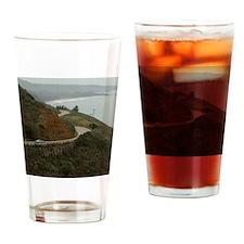 coastal highway 1 Drinking Glass