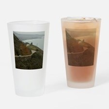 coastal highway 1 Drinking Glass