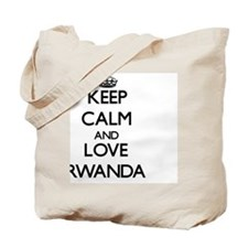 Keep Calm and Love Rwanda Tote Bag