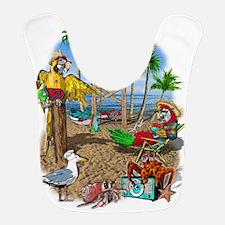 Parrot Beach Shack Bib