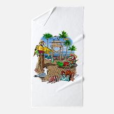 Parrot Beach Shack Beach Towel