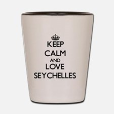 Keep Calm and Love Seychelles Shot Glass