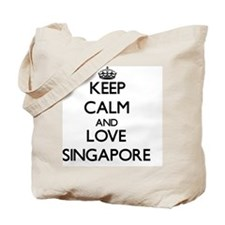 Keep Calm and Love Singapore Tote Bag