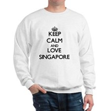 Keep Calm and Love Singapore Sweatshirt