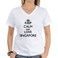 Keep Calm and Love Singapor Shirt