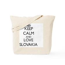 Keep Calm and Love Slovakia Tote Bag
