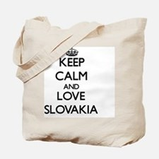 Keep Calm and Love Slovakia Tote Bag