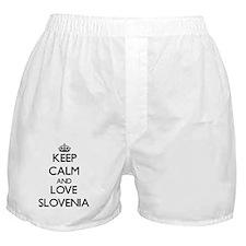 Keep Calm and Love Slovenia Boxer Shorts