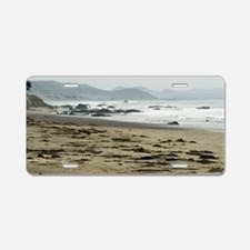 Seascape towards morro bay Aluminum License Plate