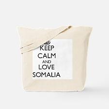 Keep Calm and Love Somalia Tote Bag