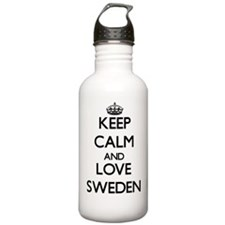 Keep Calm and Love Swe Water Bottle