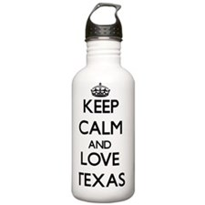 Keep Calm and Love Tex Water Bottle