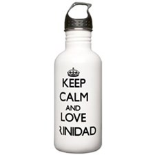 Keep Calm and Love Tri Water Bottle