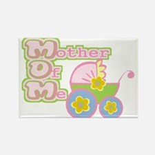 MOM - Mother Of Me, Pink Rectangle Magnet