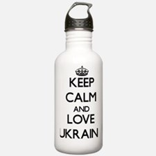 Keep Calm and Love Ukr Water Bottle