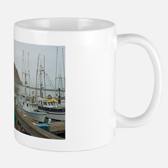 morro bay docks Mug