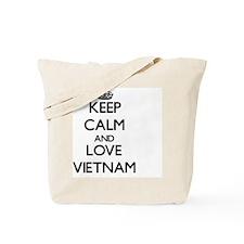 Keep Calm and Love Vietnam Tote Bag