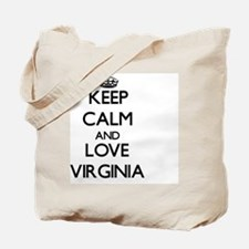 Keep Calm and Love Virginia Tote Bag