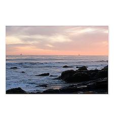 Refugio Beach oil Platfor Postcards (Package of 8)