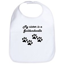 My Sister Is A Goldendoodle Bib