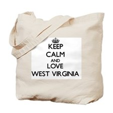 Keep Calm and Love West Virginia Tote Bag