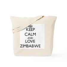 Keep Calm and Love Zimbabwe Tote Bag