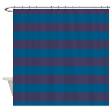 Dark Blue And Purple Striped Shower Curtain By PatternedShop