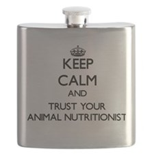 Keep Calm and Trust Your Animal Nutritionist Flask