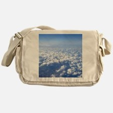 flight above the clouds Messenger Bag