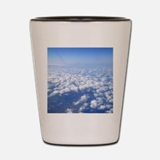 flight above the clouds Shot Glass