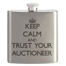 Keep Calm and Trust Your Auctioneer Flask