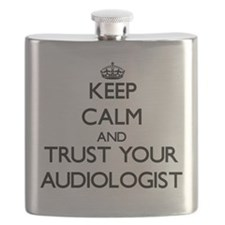 Keep Calm and Trust Your Audiologist Flask