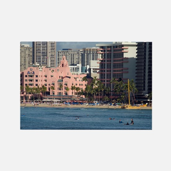 Waikiki Famous hotels Rectangle Magnet