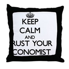 Keep Calm and Trust Your Economist Throw Pillow