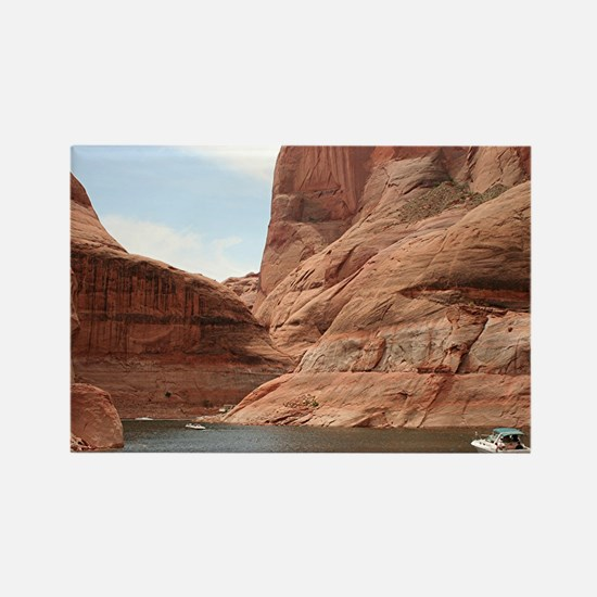 Boat, Lake Powell, Arizona, USA 1 Rectangle Magnet