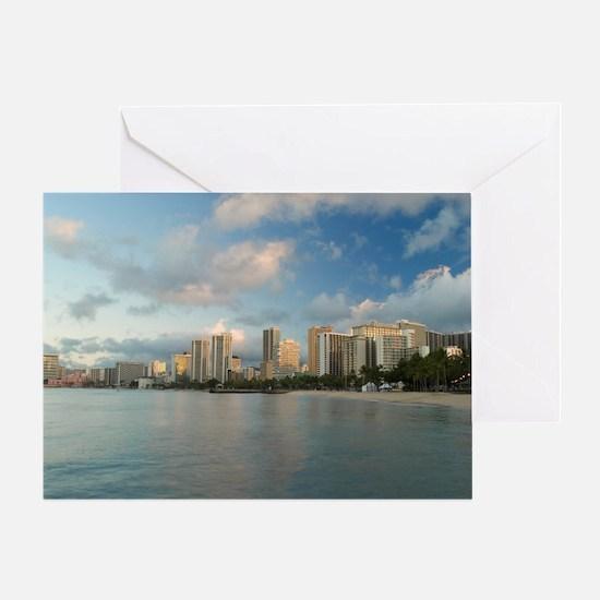 Waikiki beach view Greeting Card