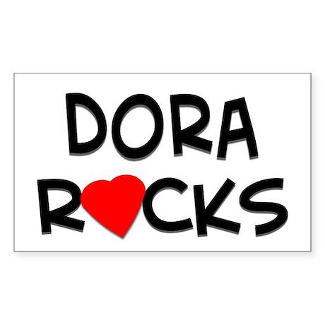 Dora Rocks Rectangle Sticker