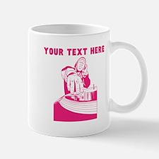 Custom Pink DJ Mugs