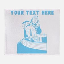 Custom Light Blue DJ Throw Blanket