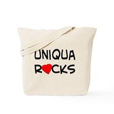 Uniqua Rocks Tote Bag