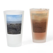 desolate lava landscape Drinking Glass
