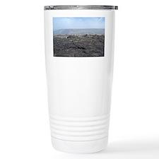 desolate lava landscape Travel Coffee Mug