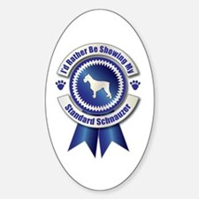 Showing Schnauzer Oval Decal