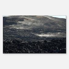 volcanic smoke hill Decal