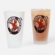 RI Reds Heritage Society Logo Drinking Glass