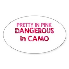 Pretty in Pink, Dangerous in Camo Decal