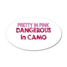 Pretty in Pink, Dangerous in Camo Wall Decal