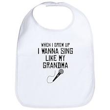 Sing Like My Grandma Bib