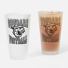 Cougars Football Drinking Glass