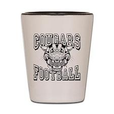 Cougars Football Shot Glass